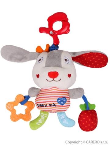 Detská plyšová hračka so zvukom Baby Mix Zajačik