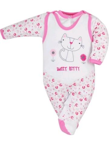 2-dielna dojčenská súprava Bobas Fashion Baby Beti ružová