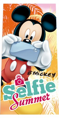 Fürdőlepedő Mickey Selfie 70/140