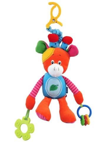 Plyšová hračka s pískátkem Baby Mix žirafka