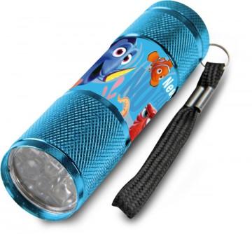 Dětská hliníková LED baterka Hledá se Dory Azurová
