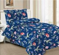 Sedmidílná sada hebkého povlečení se vzorem 140x200+70x90 - Blue Flowers