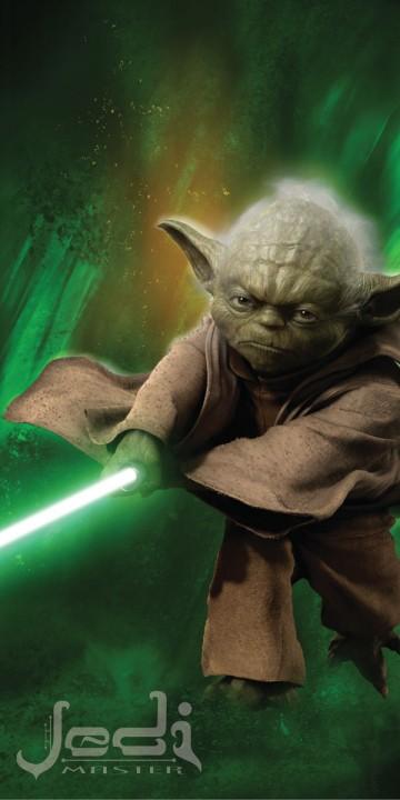 Plážová osuška Star Wars Yoda 75/150