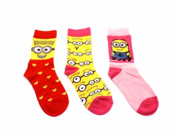Ponožky - Mimoň - srdíčka - velikost 27-30 cena za 3 páry