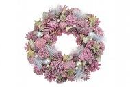 Vánoční věnec (33cm) - Růžový