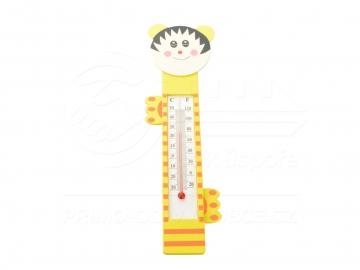 Teploměr dětský dřevo - žlutý