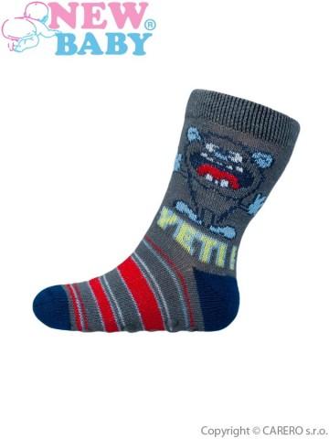 Kojenecké ponožky New Baby s ABS šedé yeti