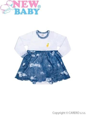 Dojčenské body so sukienkou New Baby Light Jeansbaby biele