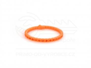 Náramek gumový s kamínky - oranžový