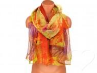 Dámský šátek s motýly - oranžový