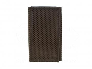 Dámská koženková peněženka Kutti vzor hvězdy - hnědá [6937]