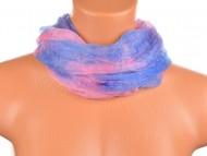 Batikolt körkendő II - kék rózsaszín