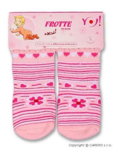 Froté ponožky světle růžové různé obrázky