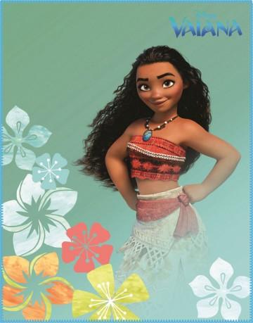 Fleece deka Odvážná Vaiana Aloha 110/140