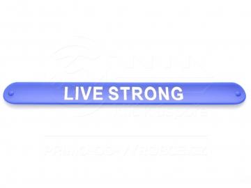 Náramek nápis LIVE STRONG - modrý