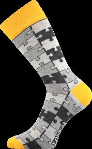 Ponožky Puzzle - 1 pár, velikost 35-38