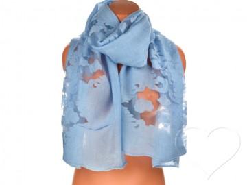 Dámský jednobarevný šátek - světle modrý