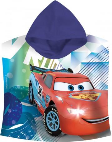 Pončo Cars blue 60/120