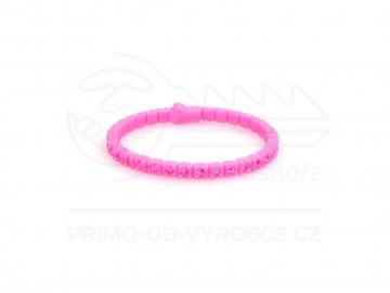 Náramek gumový s kamínky - růžový