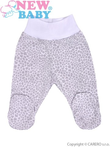 Kojenecké polodupačky New Baby Giraffe šedé