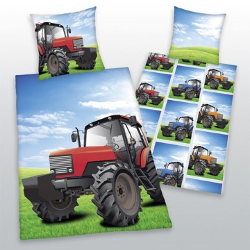 Povlečení Traktor červený 140/200