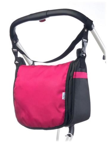 Taška na kočík CARETERO - raspberry