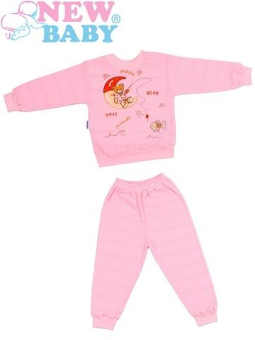 Dětské froté pyžamo New Baby růžové