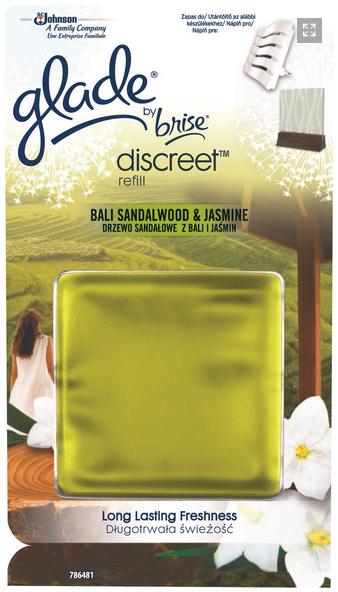 Glade Discreet náplň Santalové dřevo & jasmín z Bali 8 g