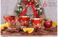 Illatos gyertya üvegben - sült alma naranccsal és fűszerekkel, 115g