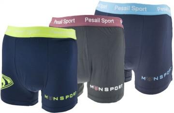 Bambusové boxerky Pesail M0180 - 3ks, velikost L
