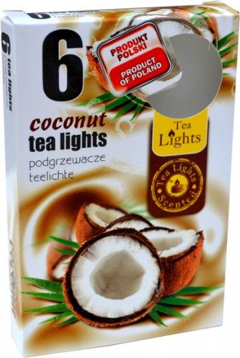 Čajové svíčky 6 kusů –  Kokos