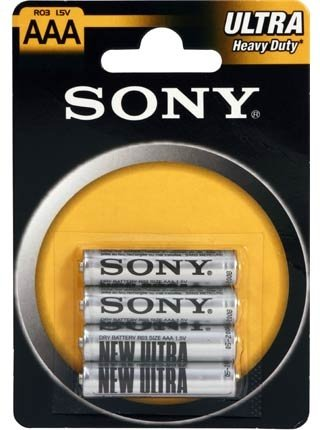 Sony R03-NUB4A R03/AAA, 4 ks AAA zinková baterie 1,5V