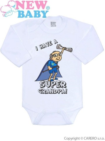Body s potlačou New Baby SUPER FAMILY, SUPER GRANDPA