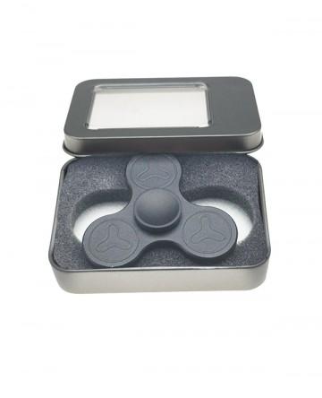 Fidget spinner - celokovový, v dárkové krabičce - černý [9075]