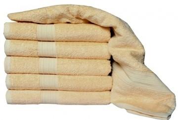 Froté ručník, 50x100 cm - světle hnědý