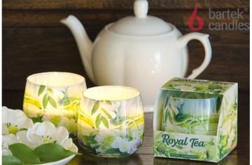Illatos gyertya üvegben - Royal Jasmine Fehér tea 100g
