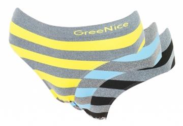 Dámské kalhotky s pruhy - 3 kusy, velikost XL/XXL - Mix barev