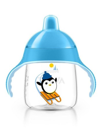 Kúzelný hrnček Avent Pingu 260 ml modrý