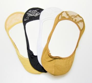 Bavlněné krajkové ťapky - 3 páry, velikost 39-42