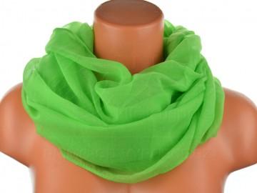 Dámský jednobarevný tunelový šátek - zelený