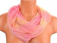 Batikolt körkendő - rózsaszín-sárga