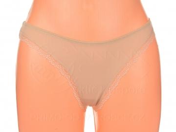 Kalhotky tanga5 - 1 ks, tělové - hnědé, velikost S