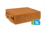 Frottír gyermek lepedő 60x120 cm – barna