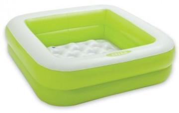 Nafukovací bazének pro děti - zelený, 85x85x23cm
