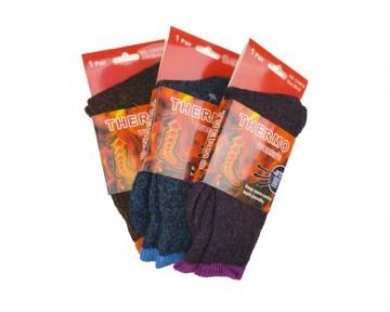 Dámské MEGA termo ponožky - barevné - 3 páry, velikost 38-42