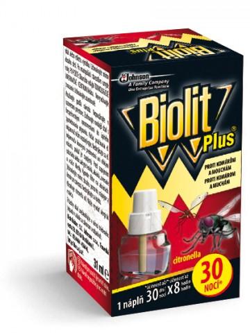 Biolit Plus - tekutá náplň 30 nocí proti komárům a mouchám, 31ml