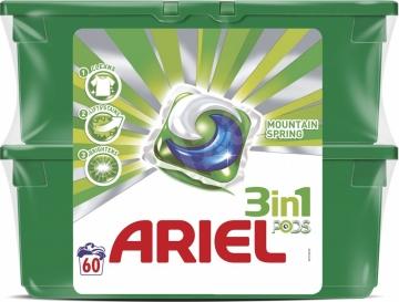 Ariel 3in1 PODS Mountain Spring - 60 kapszula