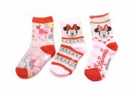 Dětské ponožky Minnie - 3 páry, velikost 31-34