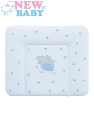 Prebaľovacia podložka mäkká New Baby Sloník modrá 85x70