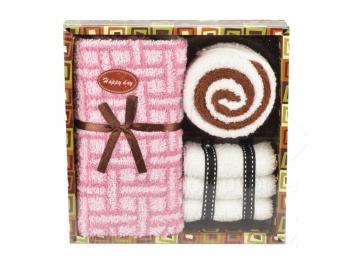 Dárkový set ručníků - Růžová